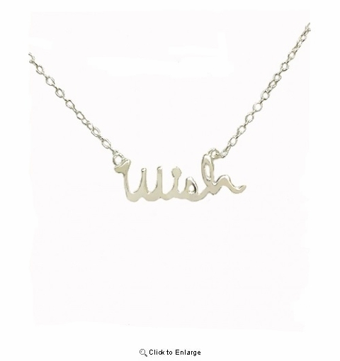 Sterling Silver Wish Pendant