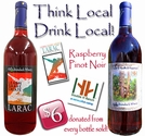 THINK LOCAL, DRINK LOCAL!  Charity Wines