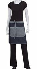 Denim Two Pocket Cafe Half Bistro Apron
