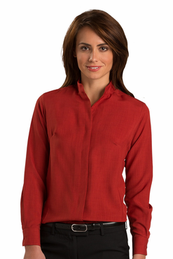 Ladies Mandarin Collar Bistro Server Shirt