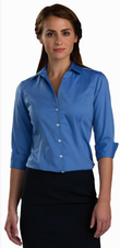 Ladies No-Iron Three Quarter Sleeve Blouse