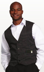 Men's Server Striped Gangster Vest