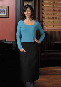 One Patch Pocket Bistro Apron with Pencil Divide