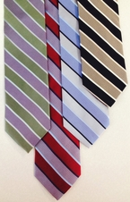 Waiter Wide Stripe Silk Tie