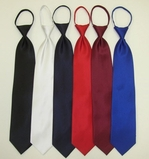 Zipper Ties Solid Colors