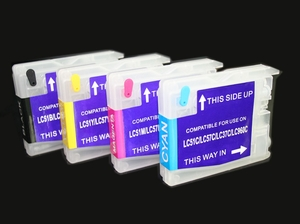 Brother LC65 refillable cartridges