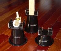 A pair of Clamping Steel Bed Risers