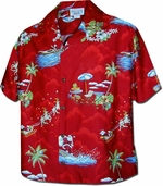 Christmas Hawaiian Shirt<br>Women's Hawaiian Shirt<br>100% Cotton<br>