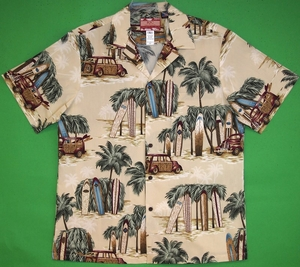 Classic Surf Board<br> Men's Hawaiian Shirt<br>Matching chest pocket<br>100% Cotton<br>