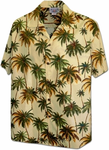 Coconut Palm<br>Men's Hawaiian shirts<br>Matching chest pocket<br>100% Cotton<br>