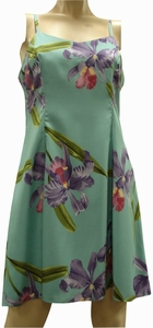 Double Orchid<br>Hawaiian Dresses<br>100% Rayon<br>