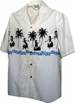 Hawaiian Hula Dance<br>Hawaiian Clothing<br>Matching chest pocket<br>100% Cotton<br>