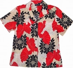 Hawaiian Quilt<br>Women's Hawaiian Shirt<br>100% Rayon<br>