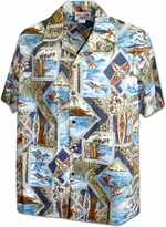 Surf Legends<br>Men's Hawaiian shirts<br>Matching chest pocket<br>100% Cotton<br>