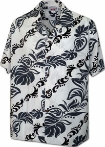 Aloha Leis<br>Men's Hawaiian shirts<br>Matching chest pocket<br>100% Cotton<br>
