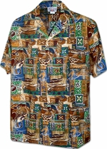 Local Aloha Shirt<br>Men's Hawaiian shirts<br>Matching chest pocket<br>100% Cotton<br>