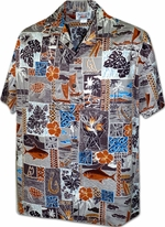 Vacations Hawaii Shirt<br>Men's Hawaiian shirts<br>Matching chest pocket<br>100% Cotton<br>