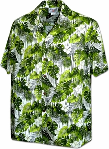 Garden Flowers<br>Men's Hawaiian shirts<br>Matching chest pocket<br>100% Cotton<br>