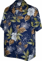 Hibiscus Paradise<br>Hawaiian Shirts<br>Matching chest pocket<br>100% Cotton<br>