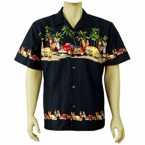 Hot Rods<br> Men's Hawaiian Shirt<br>Matching chest pocket<br>100% Cotton<br>