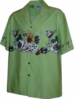 Lucky Hawaiian Shirts<br>Hawaiian Shirts<br>Matching chest pocket<br>100% Cotton<br>