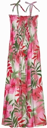 Paradise Hibiscus<br>Hawaiian Dresses<br>100% Rayon<br>