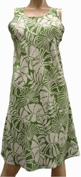 Pareau Leaves<br> Hawaiian Dress<br>100% Rayon<br>
