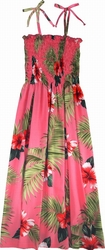 Red Hibiscus<br> Women's Hawaiian Dress<br>100% Rayon<br>