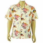 Route 66<br> Men's Hawaiian Shirt<br>Matching chest pocket<br>100% Cotton<br>