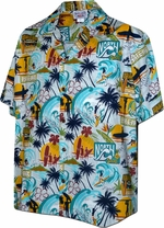 Sunset Beach<br>Men's Hawaiian shirts<br>Matching chest pocket<br>100% Cotton<br>