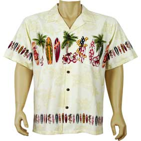 Surfboard hawaiian<br> Men's Hawaiian Shirt<br>Matching chest pocket<br>100% Cotton<br>