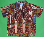Surfboards Collection<br>Boy's Hawaiian Shirt<br>Matching chest pocket<br>100% Cotton<br>