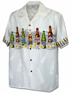 Top-Beers-Hawaii<br>Men's Hawaiian shirts<br>Matching chest pocket<br>100% Cotton<br>