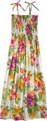 Tropical Hibiscus<br>Hawaiian Dresses<br>100% Rayon<br>