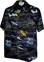 U.S. Fighter Jets<br>Mens Hawaiian Shirts<br>Matching chest pocket<br>100% Cotton<br>