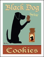 Black Dog Cookies - Limited Edition Print