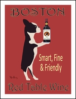 Boston Red Table Wine - Limited Edition Print
