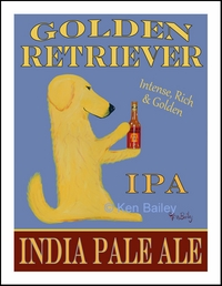 Golden Retriever India Pale Ale - LImited Edition Print