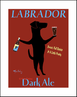 LABRADOR DARK ALE - Limited Edition Print - One of a kind special