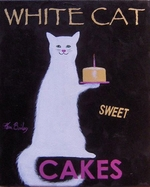 White Cat Cakes - Original Painting