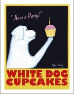 White Dog Cup Cakes - Limited Edition Prints