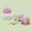 Baby Bottle Favor Containers Pink