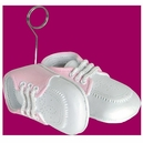 Baby Shoes Photo/Balloon Holder Pink
