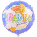 Baby Shower Moon and Stars Foil Balloon
