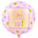 Baby Steps Girl Foil Balloon