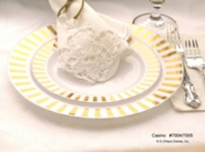Casino Porcelain Look Heavyweight  Gold Plastic Plates