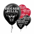 "Chicago Bulls 12"" Latex Balloons 6ct"