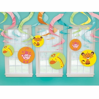 Fisher Price Baby Shower Hanging Swirl Decorations