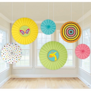 Fisher Price Baby Shower Paper Fan Decorations