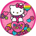 "Hello Kitty Rainbow� 7"" Round Plates"
